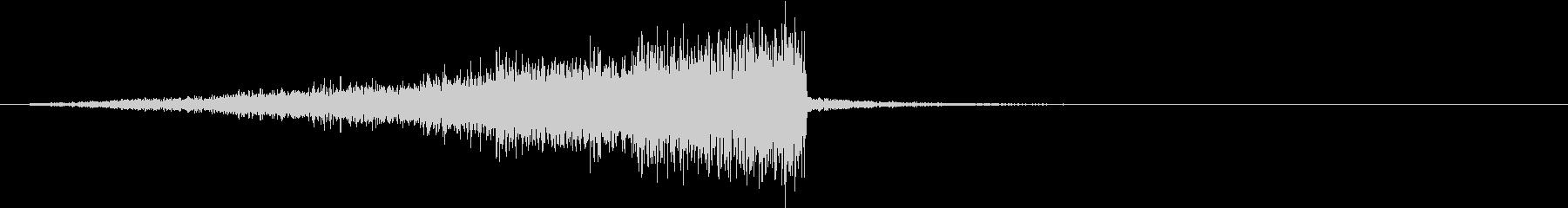 差し迫るオーケストラによる緊張の未再生の波形