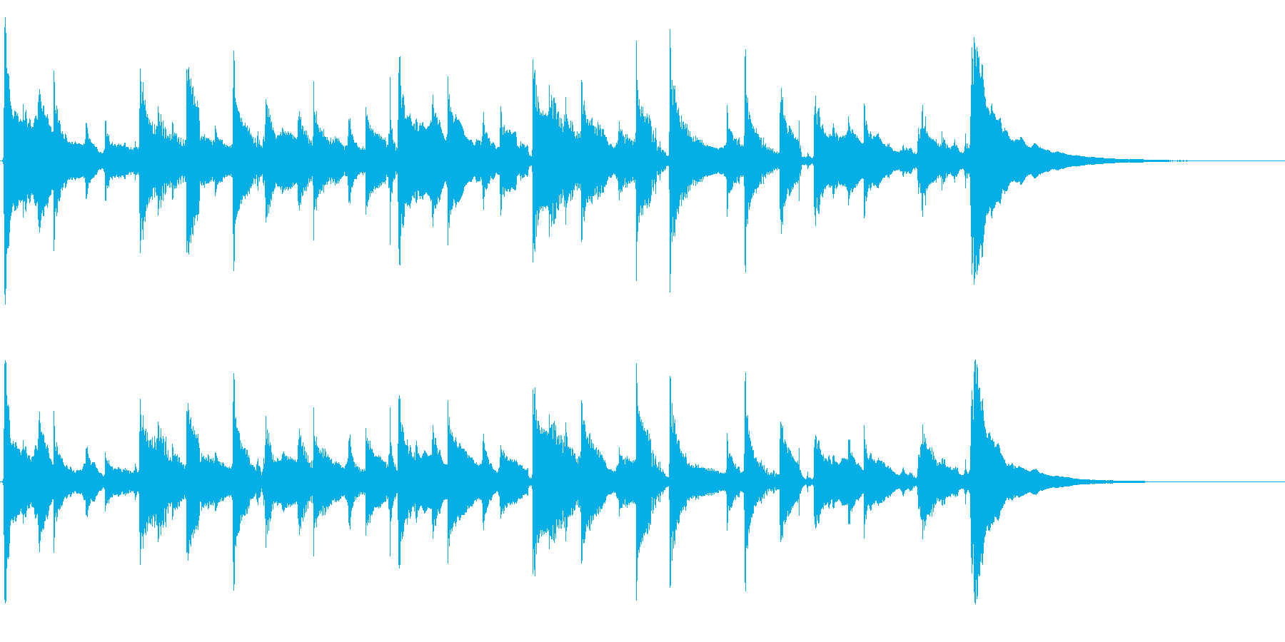アコギソロ(生音)/夏の終わり、赤とんぼの再生済みの波形