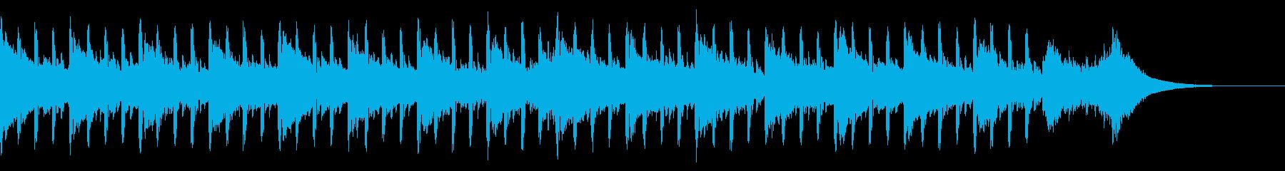 インタビュー音楽(短編)の再生済みの波形