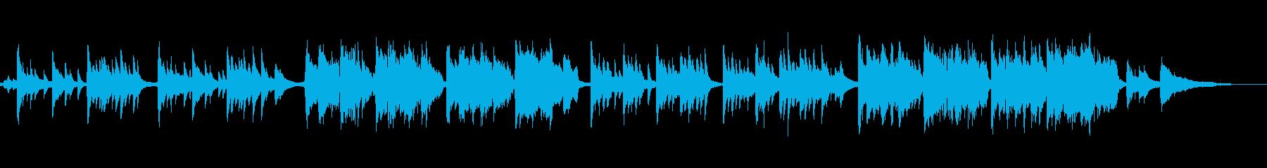 しっとりとした雰囲気の和風音楽の再生済みの波形