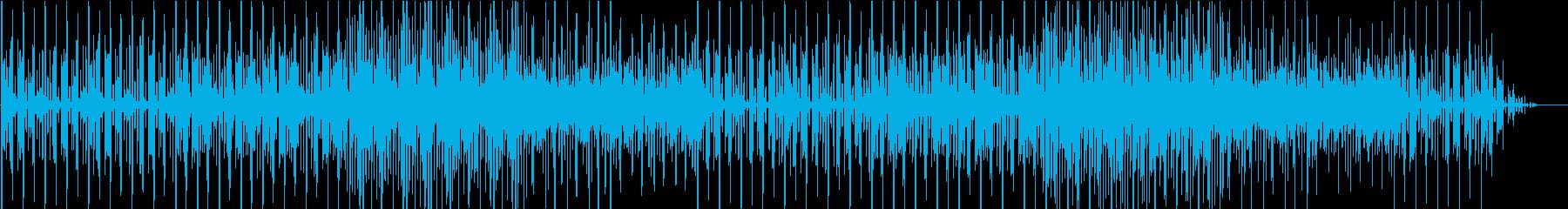 シンプルなデモ画面チップチューンの再生済みの波形