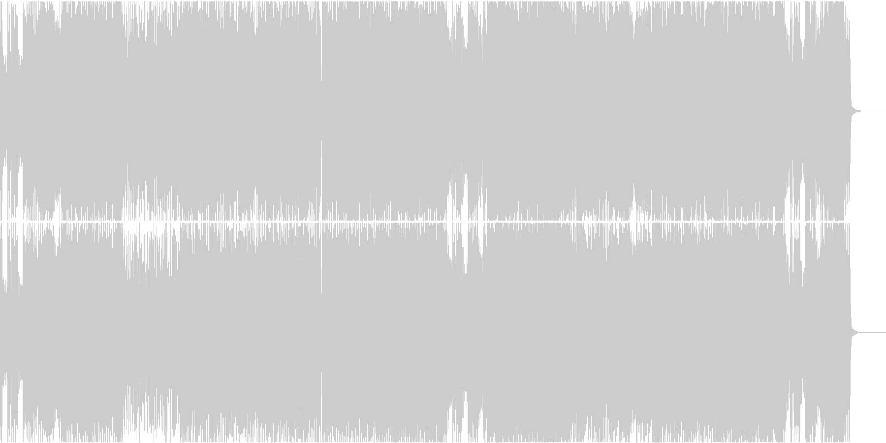 哀愁感のあるケルト調なロックの未再生の波形