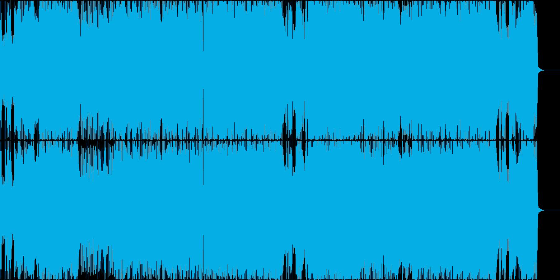 哀愁感のあるケルト調なロックの再生済みの波形