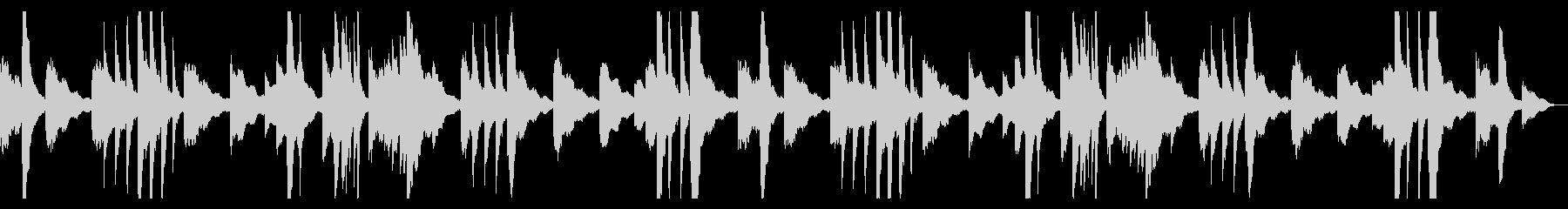 くつろぎ時間のためのピアノアンビエントの未再生の波形