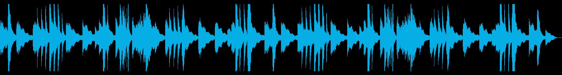 くつろぎ時間のためのピアノアンビエントの再生済みの波形