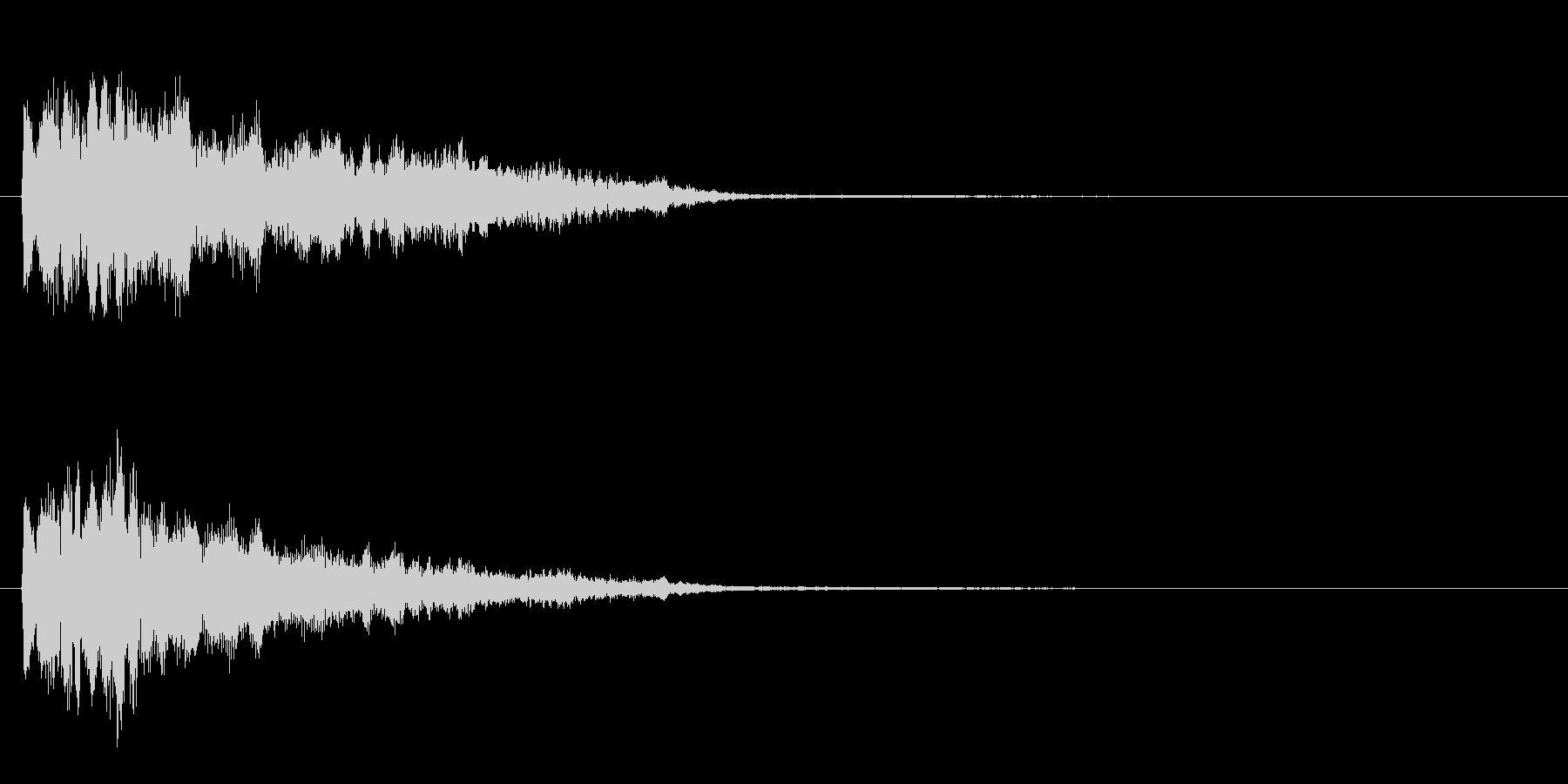 ピロン という感じの効果音の未再生の波形