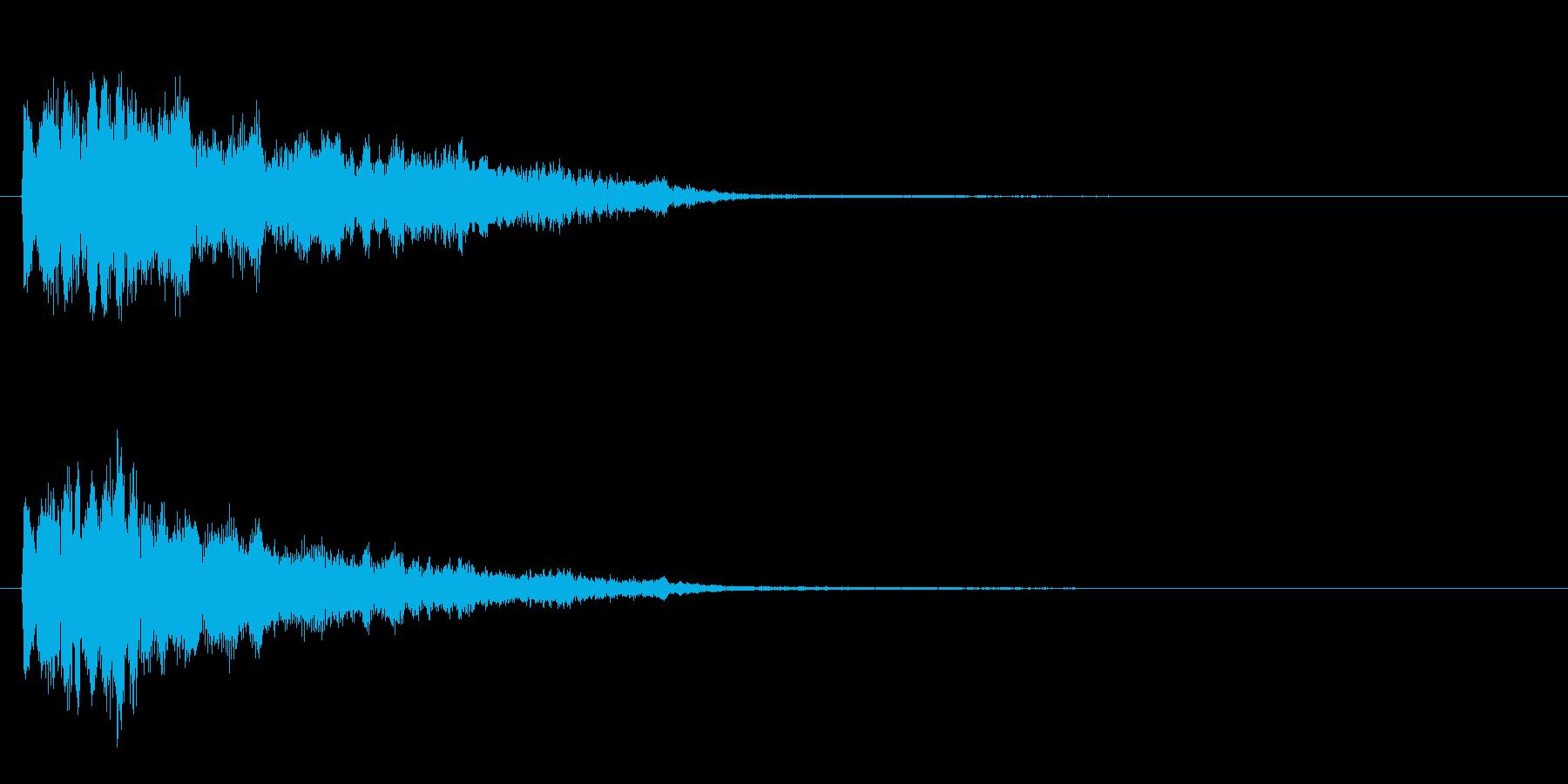 ピロン という感じの効果音の再生済みの波形