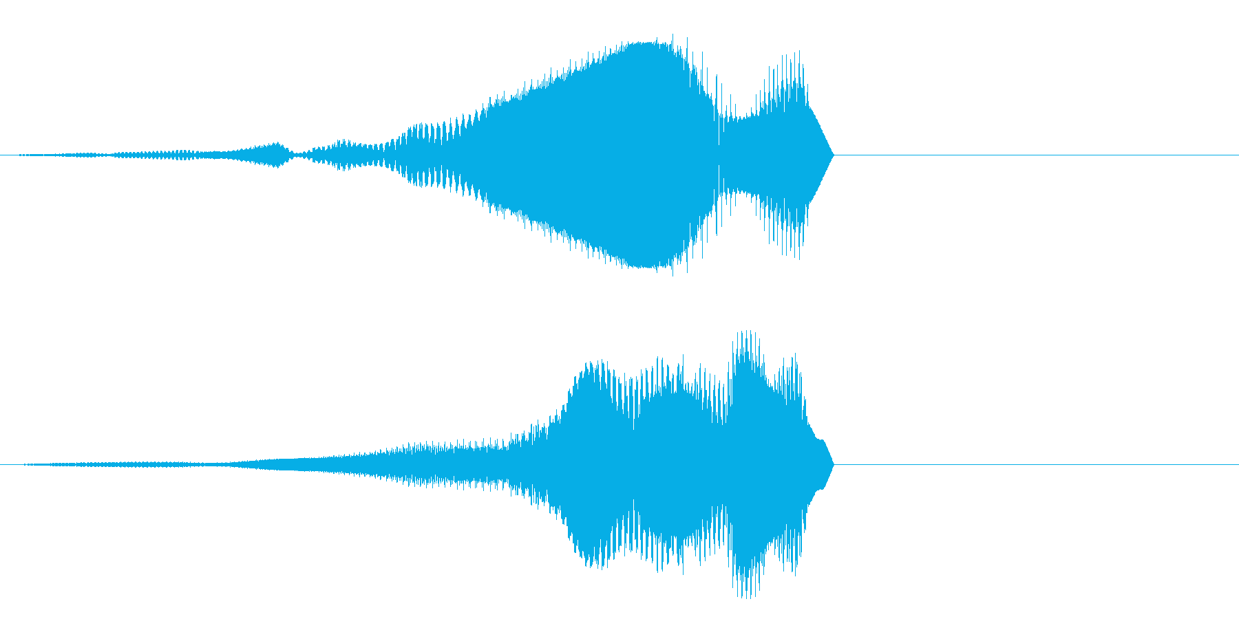 ポゥ~オォ~の再生済みの波形