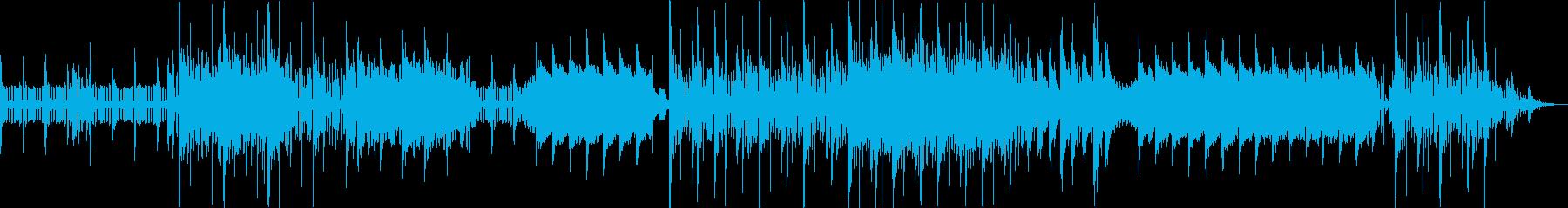 若干レトロな雰囲気のゲームBGMの再生済みの波形
