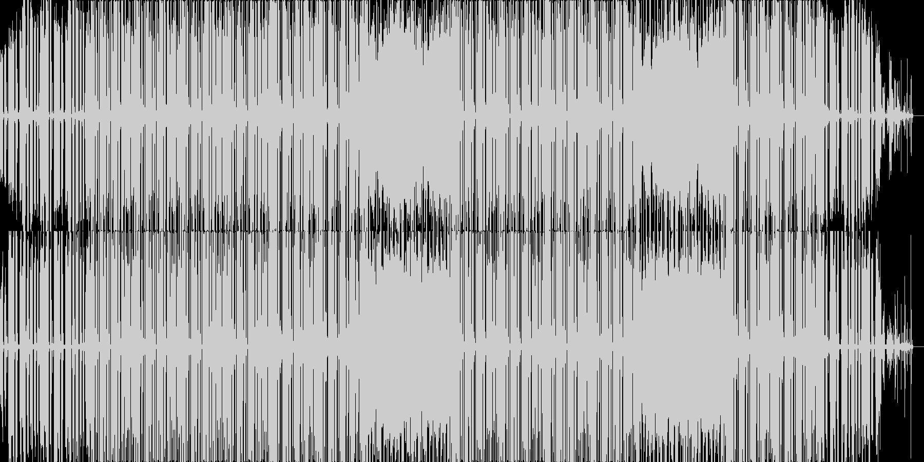 ローファイなビートの未再生の波形