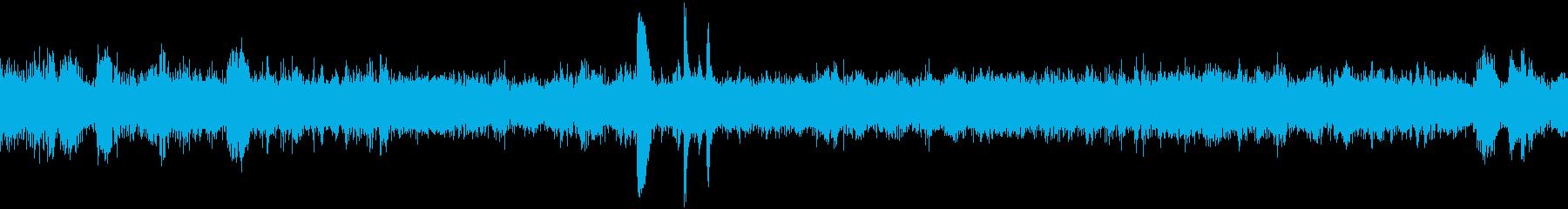 EC、列車の停車音(車内より収録)の再生済みの波形