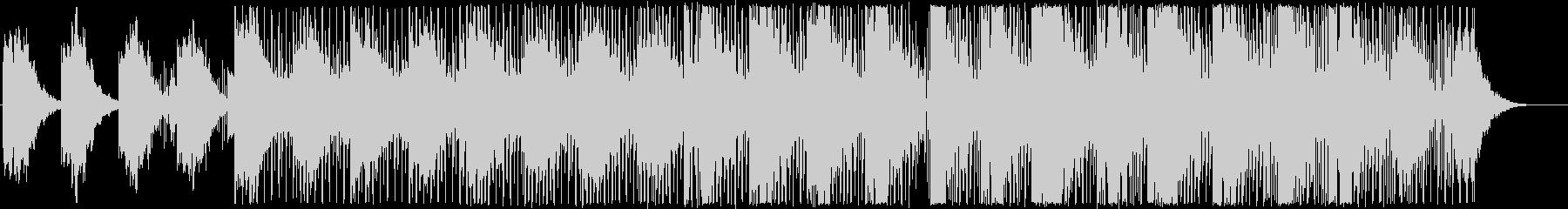 インフォグラフィックに浮遊感のあるBGMの未再生の波形