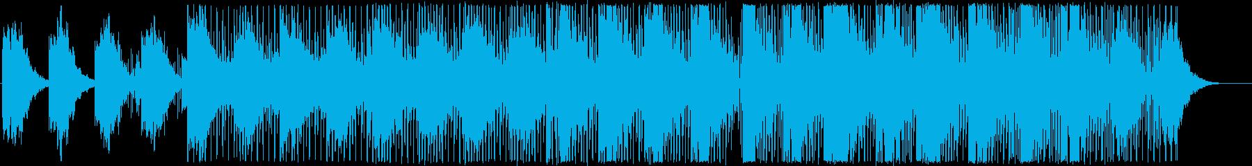 インフォグラフィックに浮遊感のあるBGMの再生済みの波形