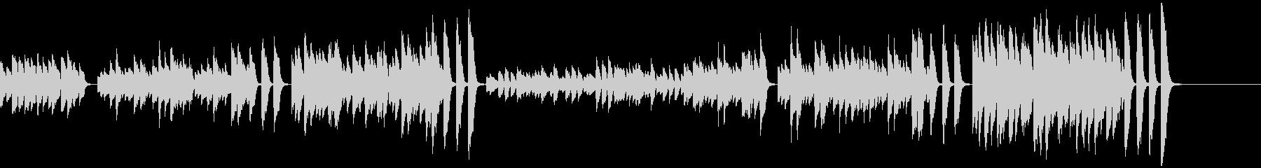 3分クッキングの原曲(ピアノソロ)の未再生の波形