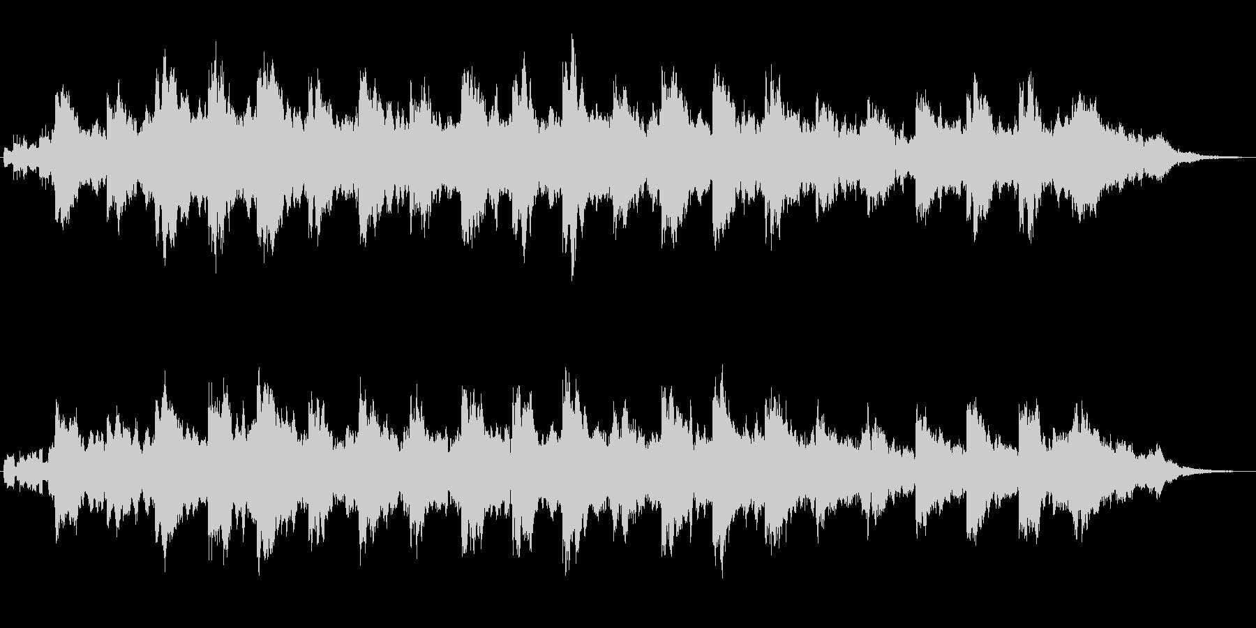 アナログシンセによる幻想的なジングルの未再生の波形