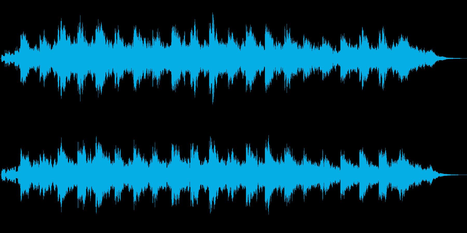 アナログシンセによる幻想的なジングルの再生済みの波形