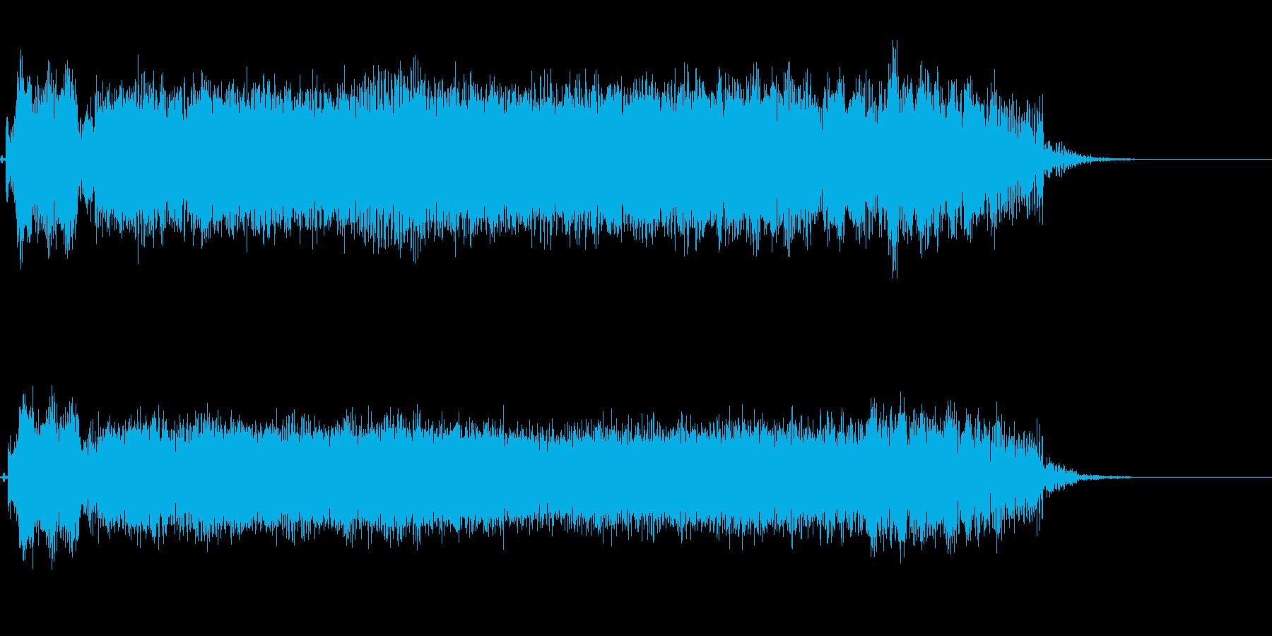 ヘビーギターによる場面転換音の再生済みの波形