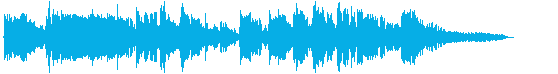 15秒CM向け、優しい大人なジャズワルツの再生済みの波形