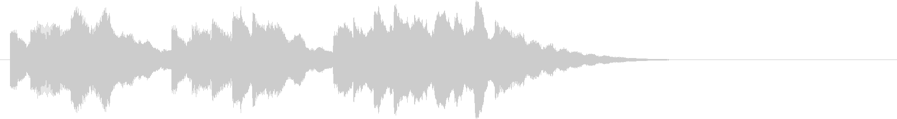 電車の発車メロディー風SEの未再生の波形