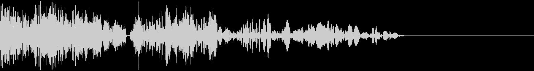 ピチューン (ボタン・開始音・打撃音)の未再生の波形