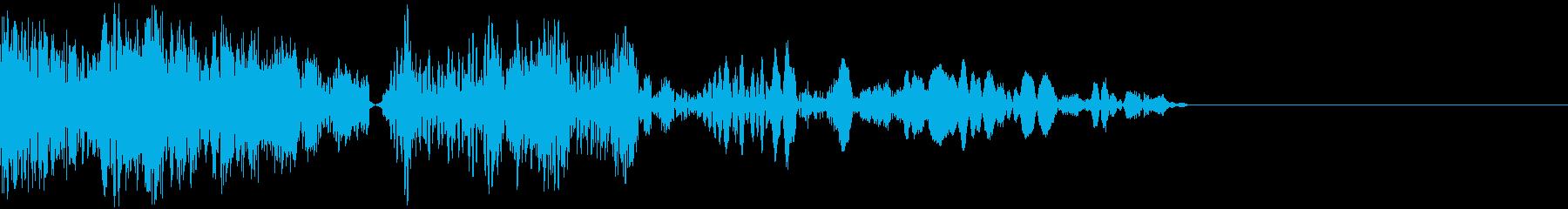 ピチューン (ボタン・開始音・打撃音)の再生済みの波形