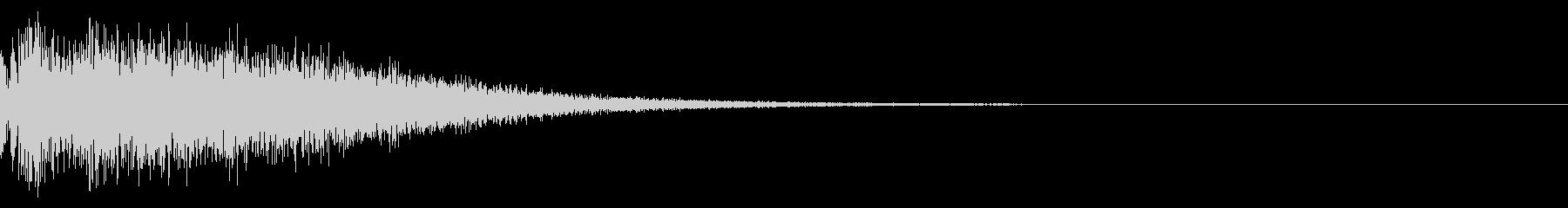 銅鑼(ドラ)の音でスタート音の未再生の波形