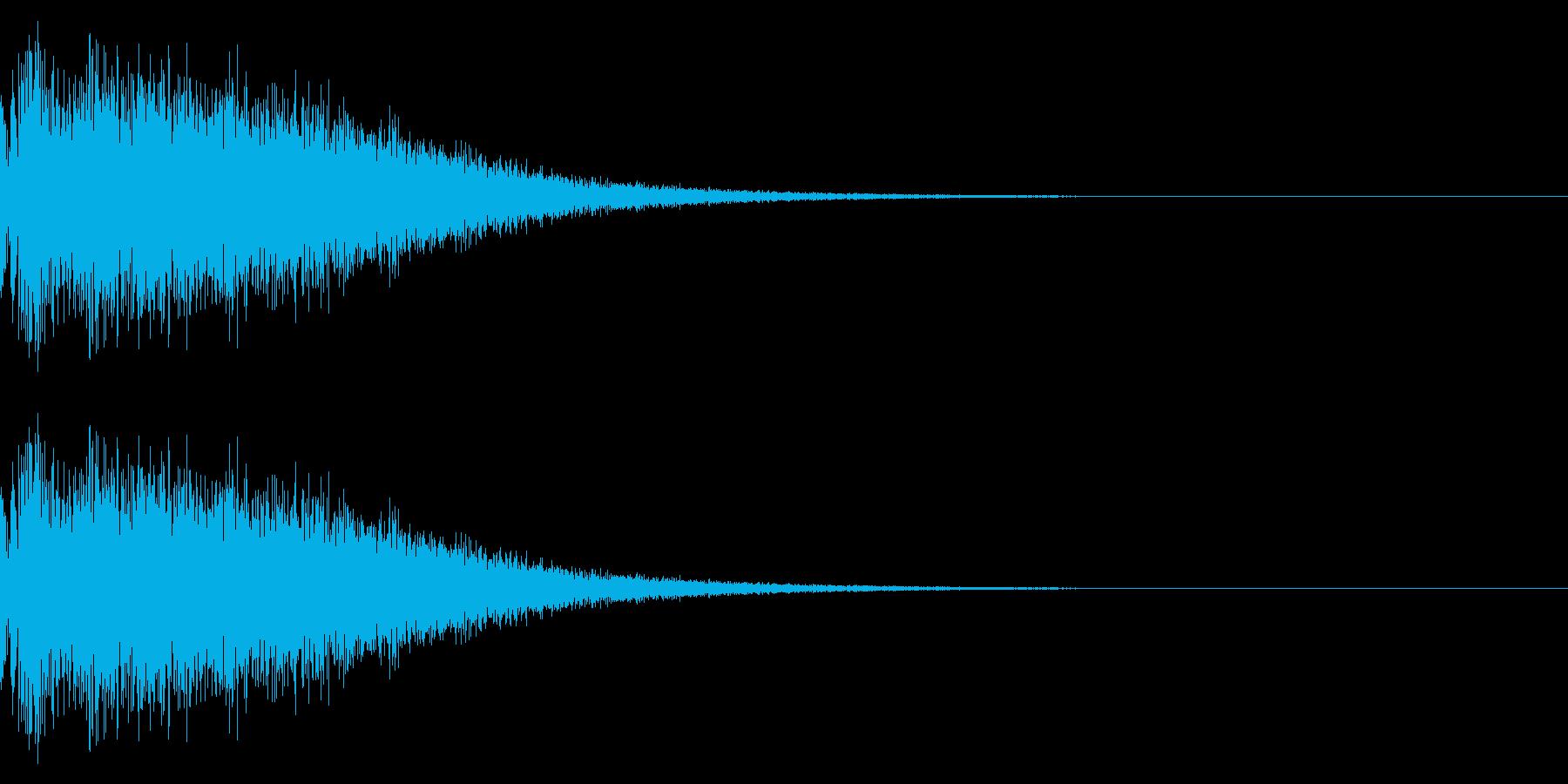 銅鑼(ドラ)の音でスタート音の再生済みの波形
