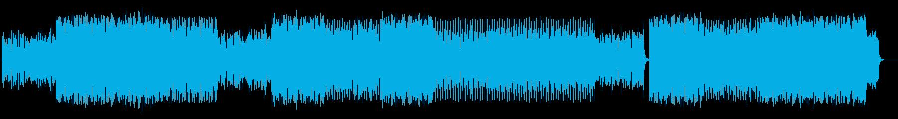 激しく疾走感のあるシンセサイザーテクノの再生済みの波形