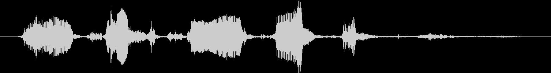 大型バーニーズマウンテンドッグ:シ...の未再生の波形