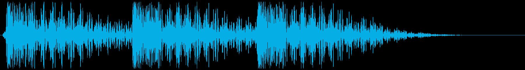 太鼓 叩く(ゆっくりめ三連打)ドンッ×3の再生済みの波形