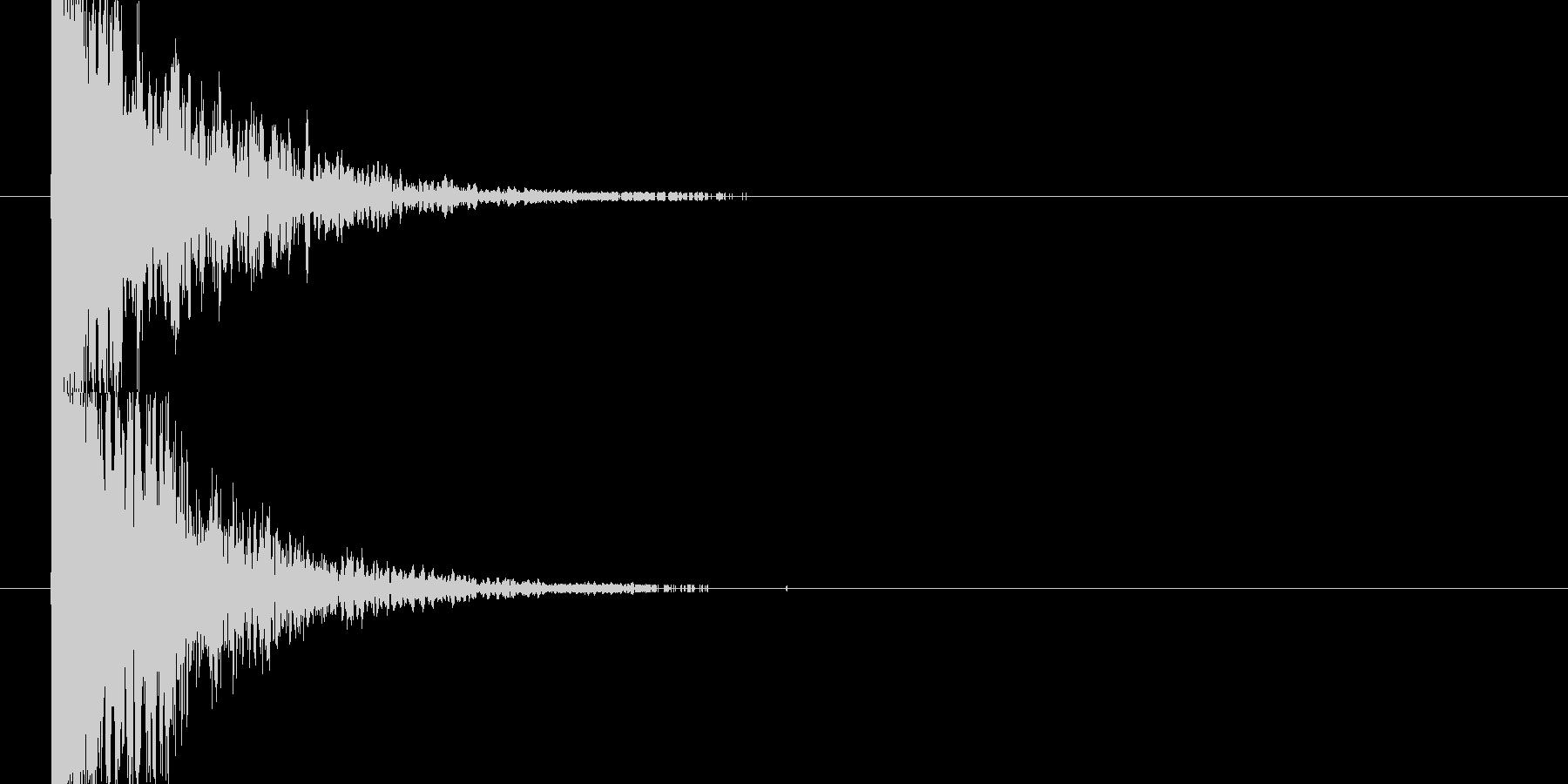 ドカーン(爆弾や雷が堕ちる音)の未再生の波形