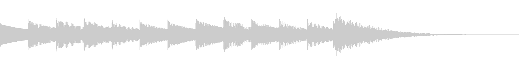 ベルの音を使ったシンプルなサウンドロゴの未再生の波形