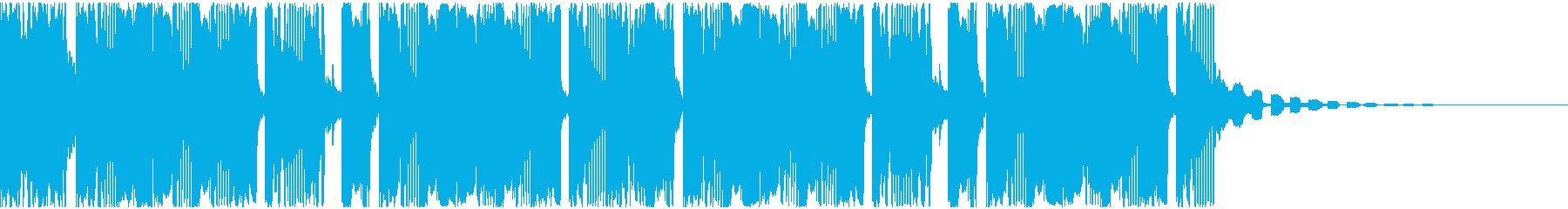 【アンビエント】ロング2、ショート6の再生済みの波形