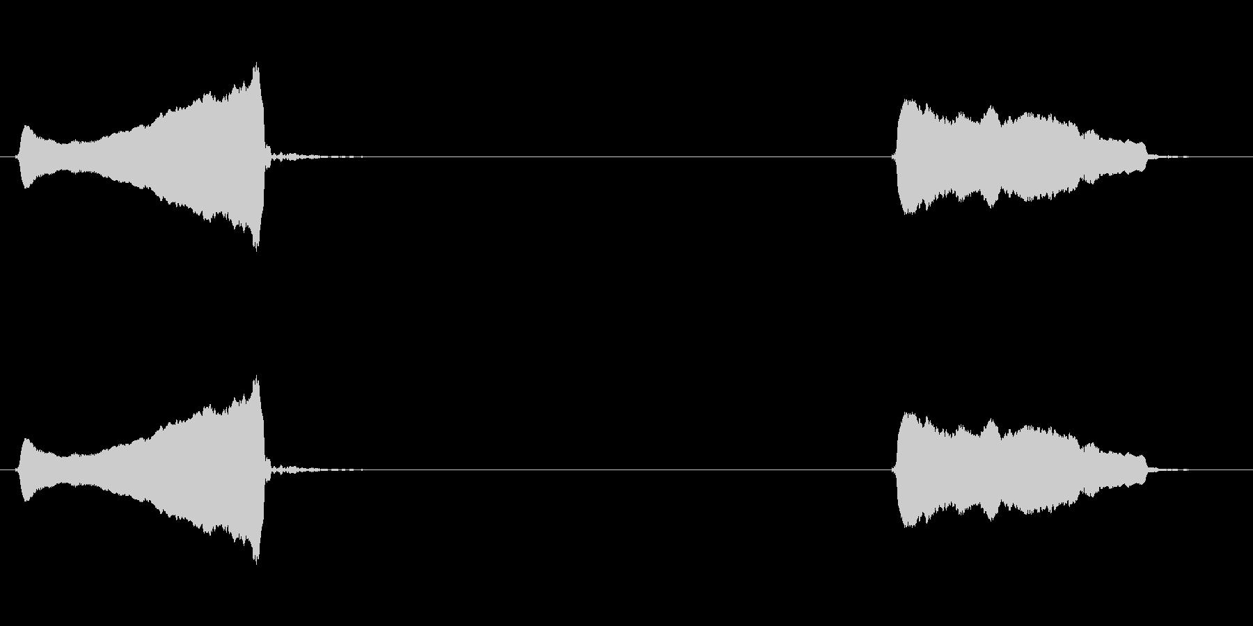 スライドホイッスル:上、下の未再生の波形