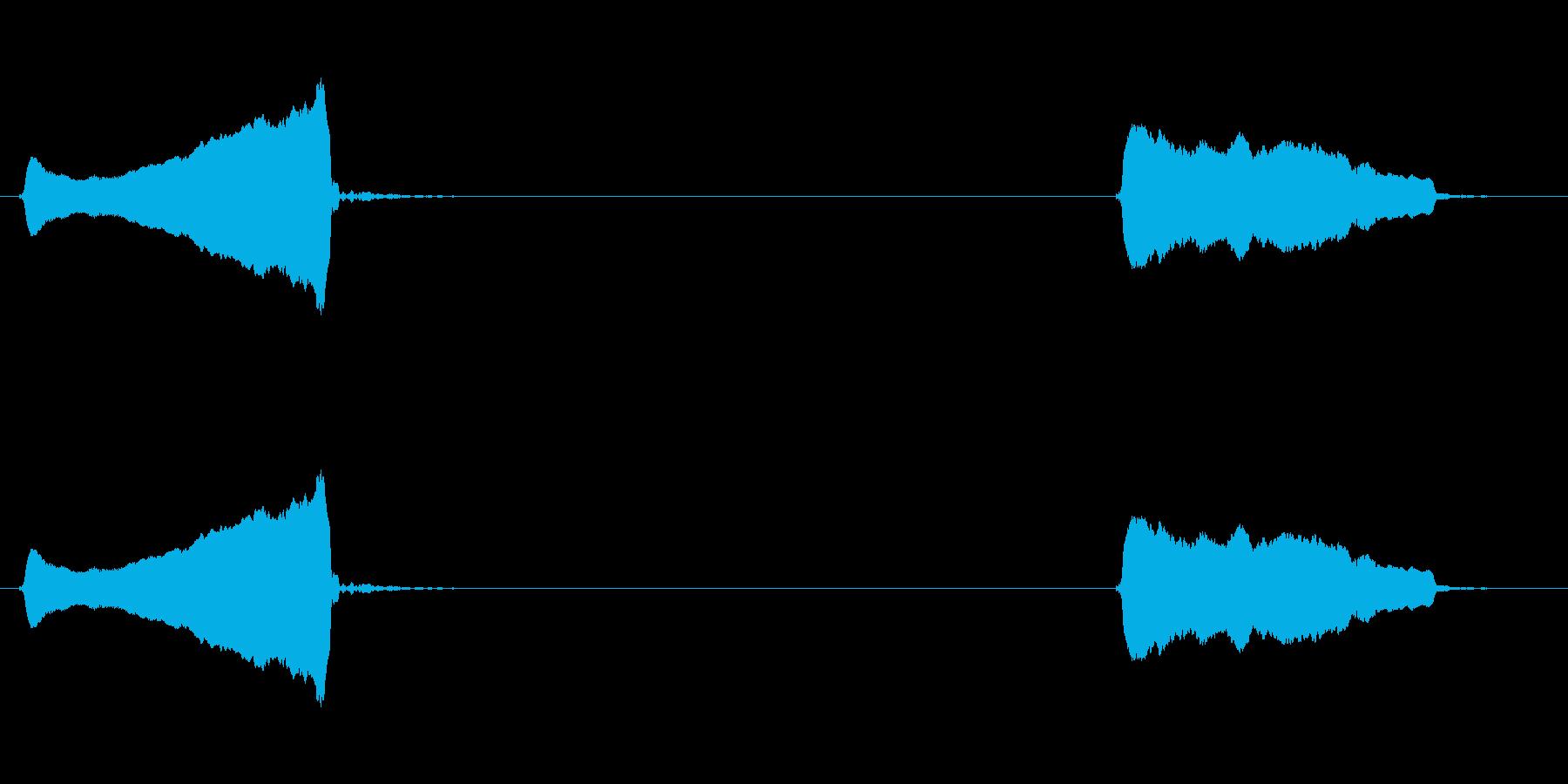 スライドホイッスル:上、下の再生済みの波形