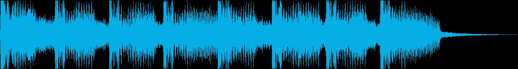 キラキラサウンドのアイキャッチの再生済みの波形