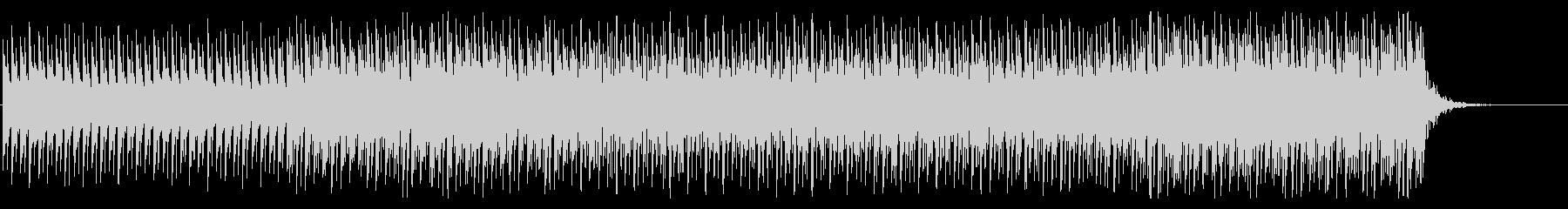 複雑でリズミカルなシンセBGMの未再生の波形