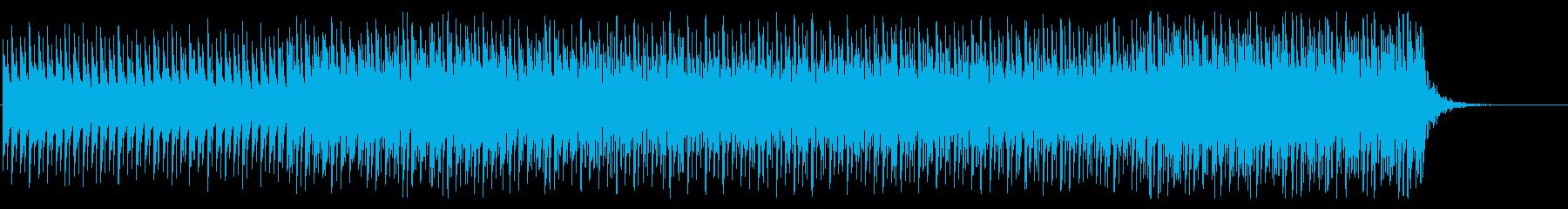 複雑でリズミカルなシンセBGMの再生済みの波形