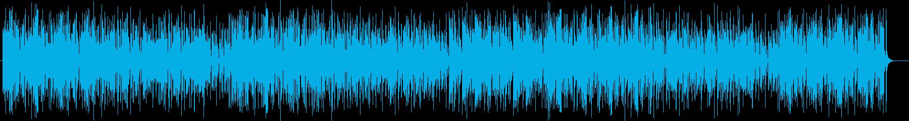 明るく軽やかなシンセサイザーポップスの再生済みの波形