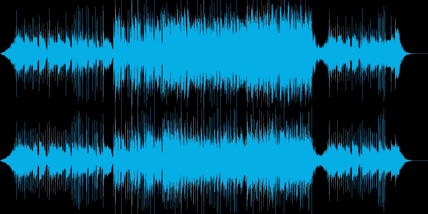 爽やかで前向きな癒し系ポップの曲の再生済みの波形