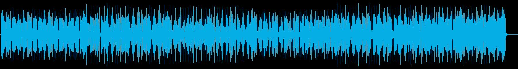 アップテンポで躍動感溢れるポップスの再生済みの波形