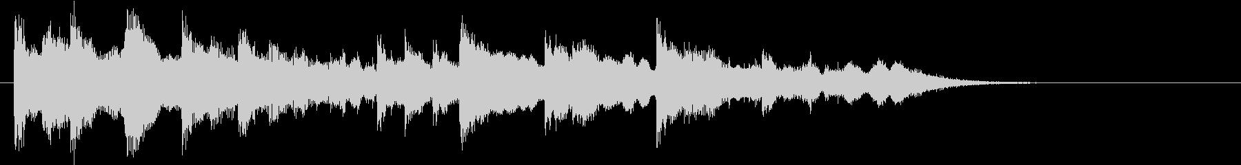 民族楽器によるエスニック&インド音楽ロゴの未再生の波形