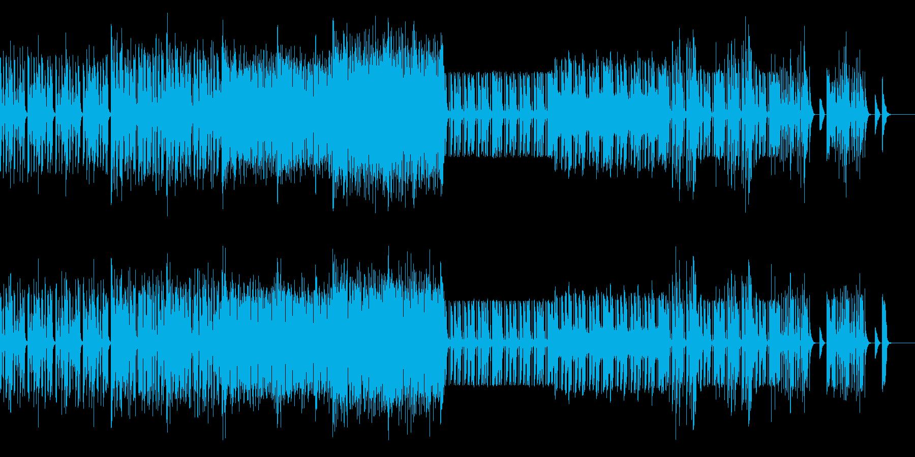 怪しい雰囲気のテクノの再生済みの波形