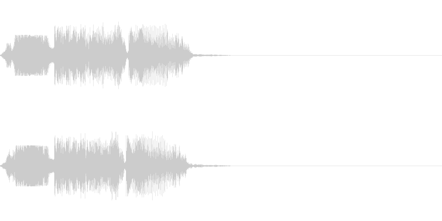 FMラジオパワープレイジングル の未再生の波形