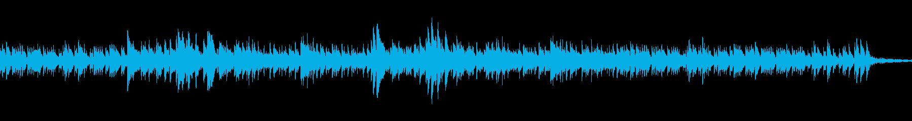 ひっそりした不思議なメロディーの再生済みの波形