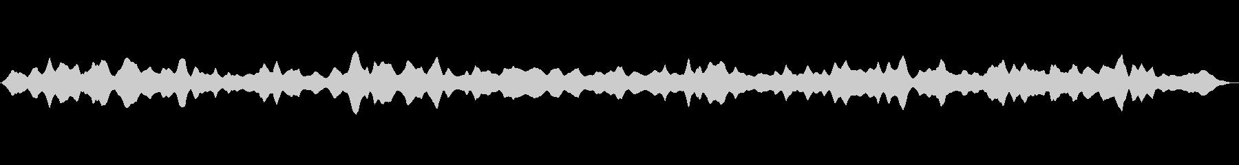 宇宙空間をイメージした5分間の効果音の未再生の波形