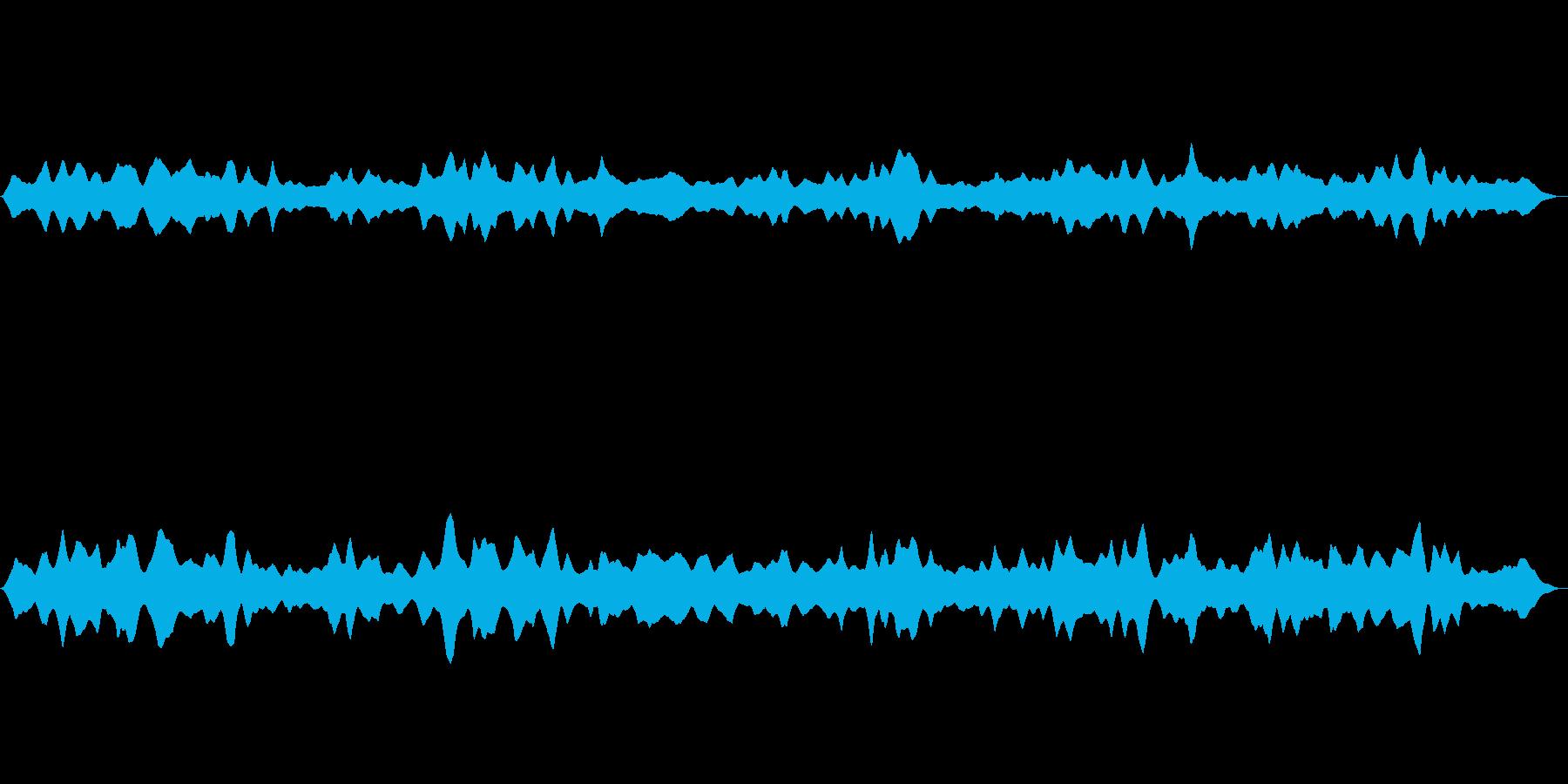 宇宙空間をイメージした5分間の効果音の再生済みの波形