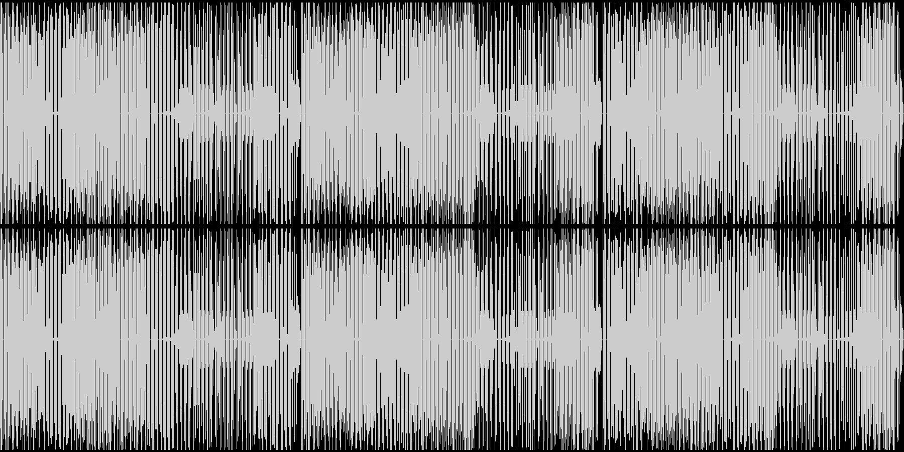 ファミコンっぽい戦闘シーンのBGMの未再生の波形