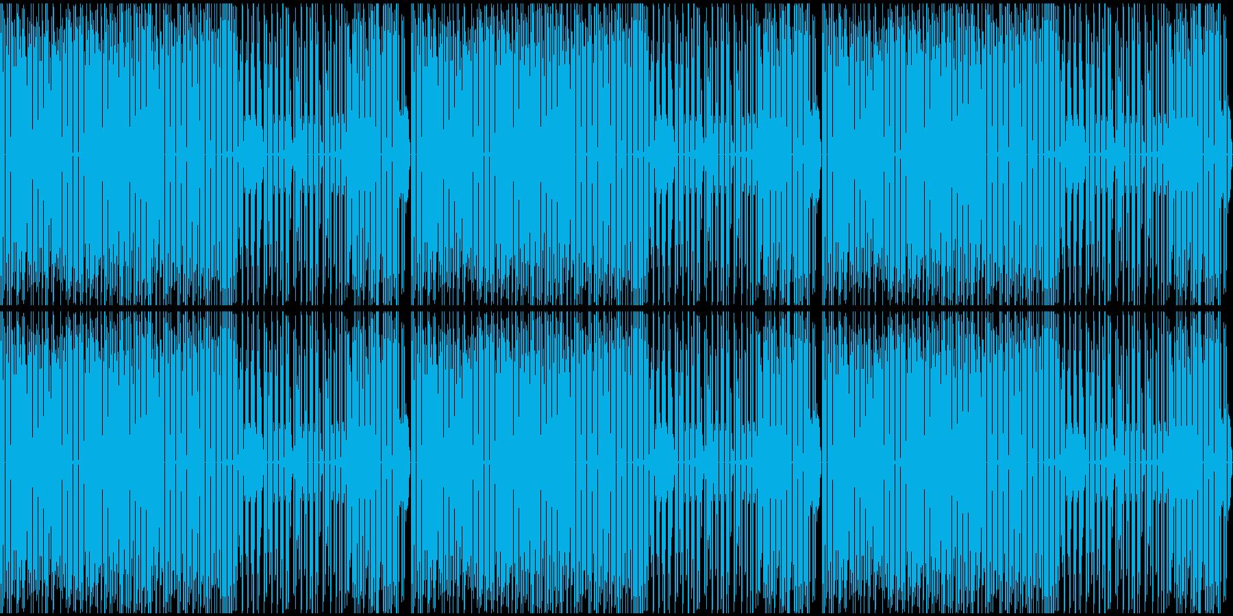 ファミコンっぽい戦闘シーンのBGMの再生済みの波形