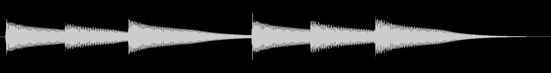 コンガ、ショートロール1、低の未再生の波形